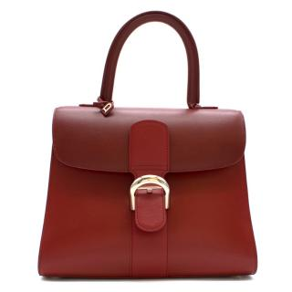Delvaux Red Brilliant MM Top Handle Bag - Rare colour way