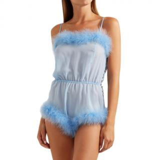 Rosamosario Sky Blue Peter Pan Love Romper