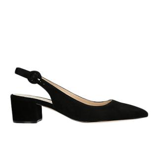 Gianvito Rossi Black Suede Amee Slingback Sandals