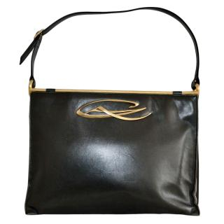 Christian Lacroix Black soft leather shoulder bag