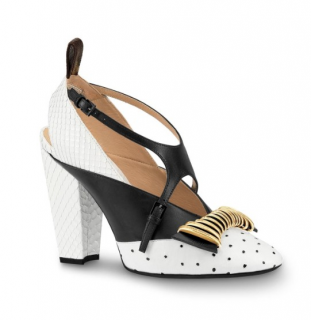 Louis Vuitton Headline Ostrich Leather Runway Cross Pumps