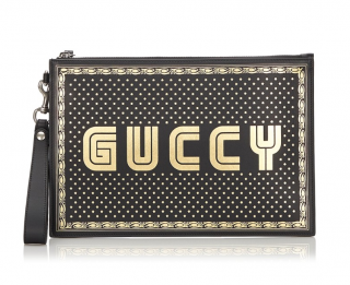 Gucci Star Print GUCCY Magnetismo Pouch
