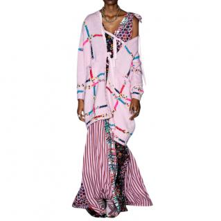 Jonathan Cohen Pink Hand-Embroidered Wool Cardigan
