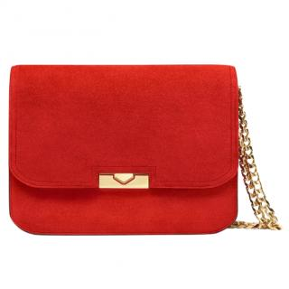 Victoria Beckham Red Suede Eva Chain Bag