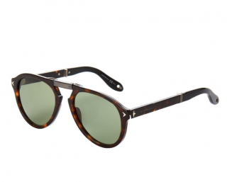 Givenchy Tortoiseshell Aviator Foldable Sunglasses