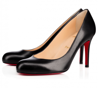Christian Louboutin Simple Pump 85 in Black Nappa Leather