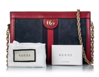 Gucci Small Suede Ophidia Satchel Bag