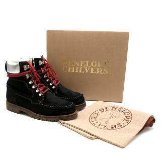 Penelope Chilvers Black Pioneer Suede Boots