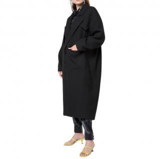 Tibi Basket Weave Cocoon Maxi Coat