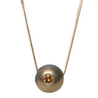 Cred 0.25ct Orange Diamond pendant necklace
