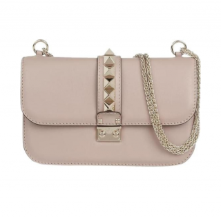 Valentino Rockstud Medium Glam Lock Shoulder Bag