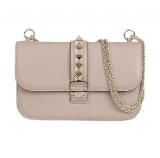 Valentino Rockstud Medium Glam Lock Shoulder Bag