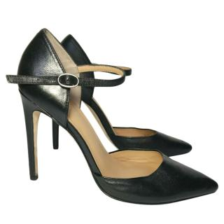 Halston Heritage Christina Black Leather Pumps