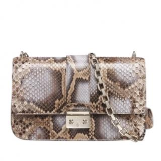 Dior Python Perle Bronze Miss Dior Medium Flap Bag.