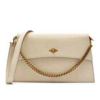 Metier White Roma Shoulder Bag in Smooth Calfskin - Current
