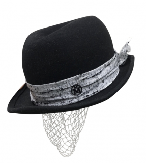 Maison Michel steel veil hat