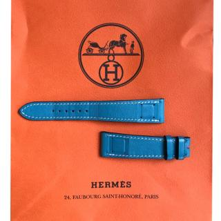 Hermes Blue Jean Swift Leather Size 108 Watch Strap