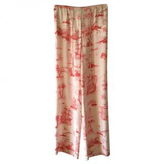 Max Mara Etoile de Jou Silk Printed Pants