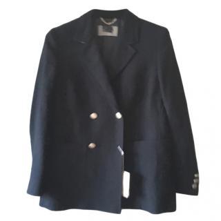 Max Mara Blue Double Breasted Jacket