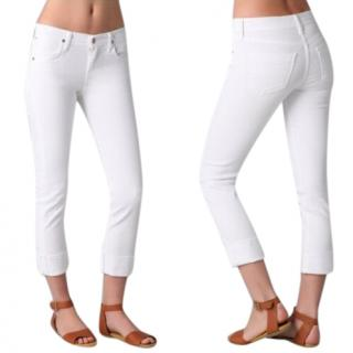 Citizens of Humanity Dani White Cropped Straight Leg Jeans