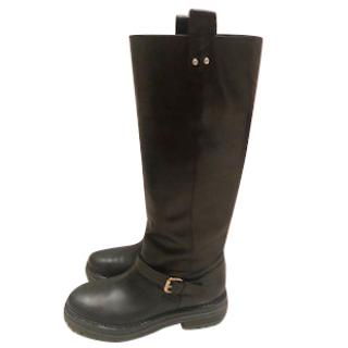 Serigo Rossi Black Leather Biker Boots