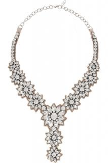 Valentino Crystal Bib Necklace