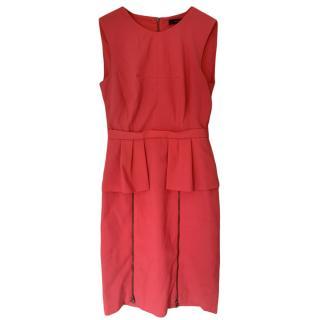 BCBGMaxAzria Ashleigh Geranium Peplum Dress