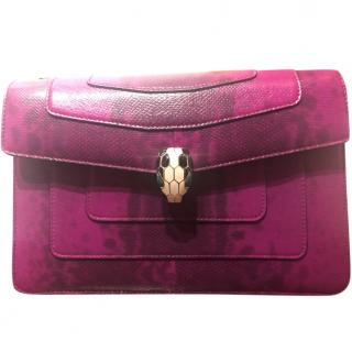 Bvlgari Orchid Pink Karung Serpenti Forever Shoulder Bag