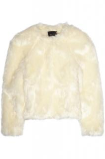 Simone Rocha cream faux fur jacket