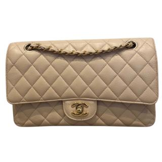 Chanel Caviar Leather Beige Clair Classic Flap Bag
