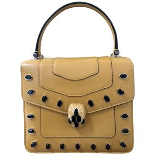 Bvlgari Serpenti Forever Ochre Studded Top Handle Bag
