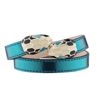 Bvlgari Serpenti Forever Coiled Bracelet in Ocean Turquoise