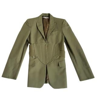 Stella McCartney Green Corseted Jacket