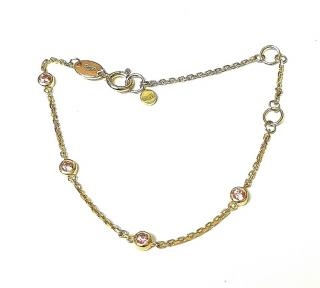 Bespoke 18ct Yellow Gold Pink Sapphire By The Yard Bracelet