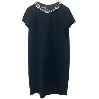 Moschino Boutique Jewelled Black Shift Dress