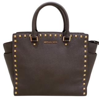 Michael Michael Kors Large Brown Selma Tote Bag