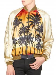 Saint Laurent Hedi Slimanes Los Angeles inspired bomber jacket