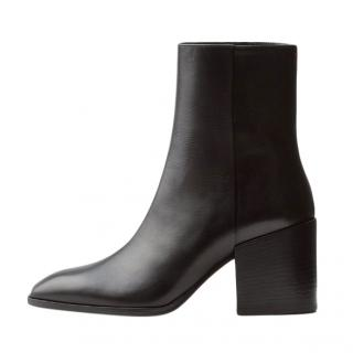 Aeyde black leather Leandra ankle boots