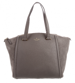 Kate Spade New York Alanie Grey Suede Bag