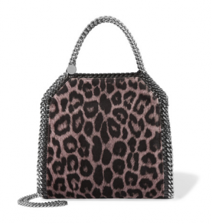 Stella McCartney The Falabella mini leopard-print shoulder bag