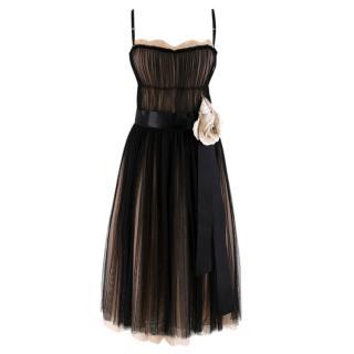 Dolce & Gabbana Black & Pink Tulle Dress