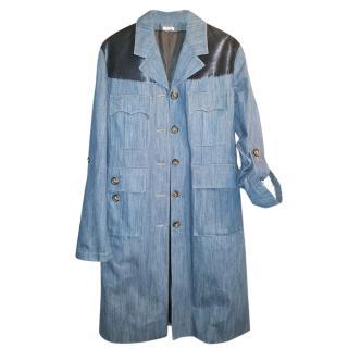 Miu Miu Oversize Denim Trench Coat