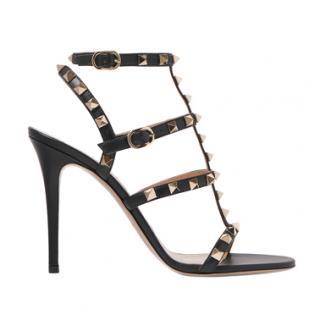 Valentino Black Garavani Rockstud Gladiator sandals