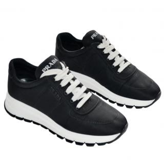 Prada Black & White Logo Sneakers