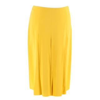 Prada Yellow Pleated Skirt