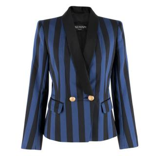 Balmain Striped Satin Blazer