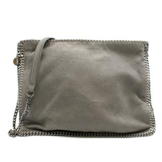 Stella McCartney Grey Faux Suede Falabella Shoulder Bag
