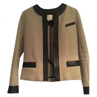 Iro Wool Blend Leather Trim Jacket