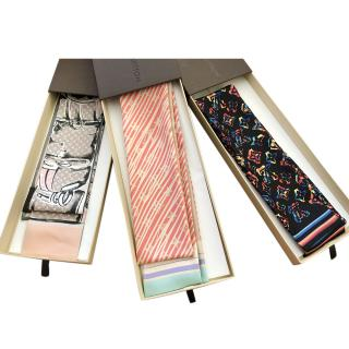 Louis Vuitton Set of 3 Limited Edition Silk Bandeaus