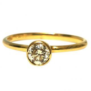 Bespoke Yellow Gold Yellow Diamond Solitaire Ring